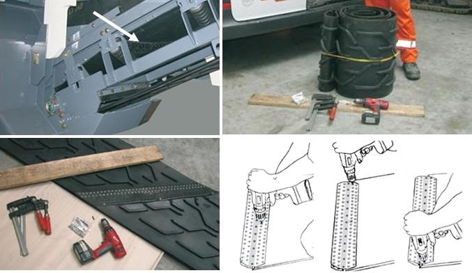 montažu veze super screw u glodalicama asfalta